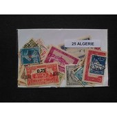 Algerie 25 Timbres Differents Obliteres