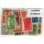 Algerie 50 Timbres Differents Obliteres