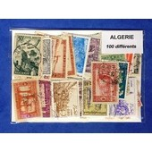 Algerie 100 Timbres Differents Obliteres