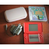 Nintendo Ds Light Rouge + Jeu Animal Crossing + Chargeur