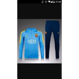 Ensemble V�tement Football Nike Survetement Barcelone Polyester 12 Ans Bleu