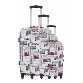 Travel One Set De 3 Valises - Havering - Taille S+M+L - Syst�me 360 + Roues Silencieuses - Ultra Light - Grande Contenance