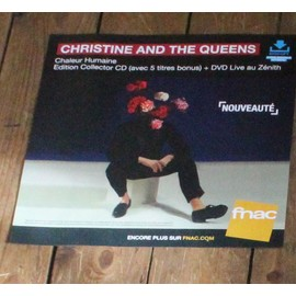 PLV souple 30x30cm CHRISTINE AND THE QUEEN chaleur humaine EDITION COLLECTOR + LIVE magasins FNAC