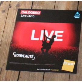PLV souple 30x30cm CALOGERO live 2015 MAGASINS FNAC
