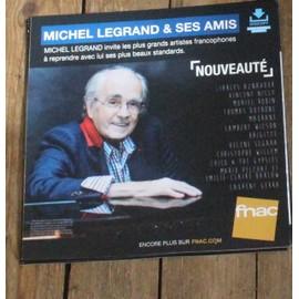 PLV souple 30x30cm MICHEL LEGRAND & SES AMIS aznavour segara willem vincent niclo MAGASINS FNAC