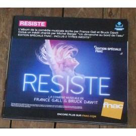 PLV souple 30x30cm comédie musicale RESISTE / FRANCE GALL MICHEL BERGER magasins FNAC