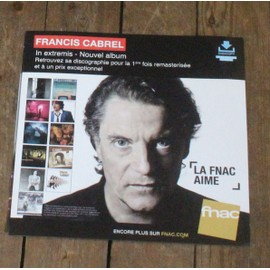 PLV souple 30x30cm FRANCIS CABREL in extremis + intégrale MAGASINS FNAC