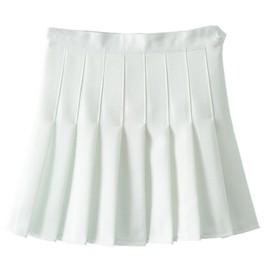 Femmes Sexy Jupe Taille Haute Pliss�E-Ligne Tennis Solide Mini