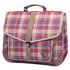 Cartable 38 Cm Clairefontaine Classic Bag Tartan Rouge