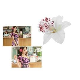 Lot De 2 Fleurs D'orchid�e Hawai - Barrette Pince Cheveux
