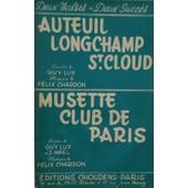 Auteuil Longchamp St.Cloud (Valse) Musette Club De Paris (Valse). Guy Lux. F�lix Chardon.