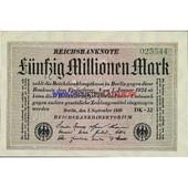 Allemagne 50 000 000 Mark Pick 109
