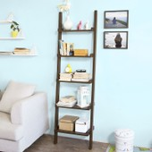 Sobuy� Frg17-Br �tag�re Murale Style �chelle, Biblioth�que �tag�re �chelle, 5 �tages -Brun