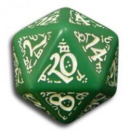 Q Workshop Elven Green & White D20
