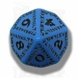 Q Workshop Runic Blue & Black D10