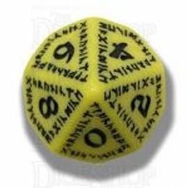 Q Workshop Runic Yellow & Black D10