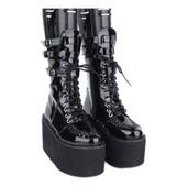 65855e132c18ec Chaussures Bottes Bottines Style Lolita Gothique Grunge Originales  Confortables Coloris Noir Marron Talon 10 Cm Tailles