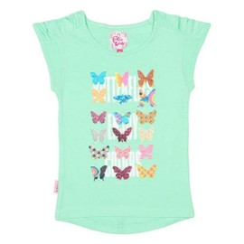 Miss Girly-T-Shirt Manches Courtes Fille 3/8 Ans Fayway- Vert