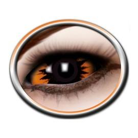 Black Sugar - Paire De Lentilles Int�grale Orange D�mon - 22mm De Diam�tre - Excellente Qualit� - 6 Mois Apr�s Ouverture - Cosplay D�guisement