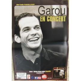 GAROU AFFICHE DE CONCERT
