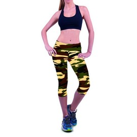 Femme Pantacourt Exercice Leggings Elastique Sport Fitness #22