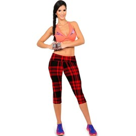 Femme Pantacourt Exercice Leggings Elastique Sport Fitness #14