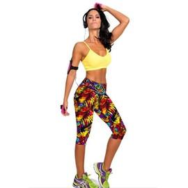 Femme Pantacourt Exercice Leggings Elastique Sport Fitness #6