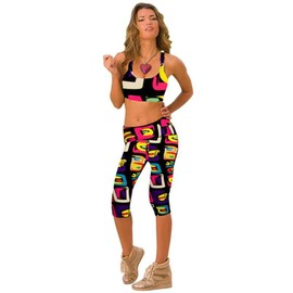 Femme Pantacourt Exercice Leggings Elastique Sport Fitness #24