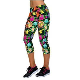 Femme Pantacourt Exercice Leggings Elastique Sport Fitness #10