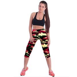 Femme Pantacourt Exercice Leggings Elastique Sport Fitness #23