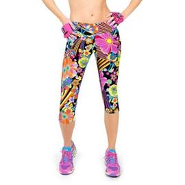 Femme Pantacourt Exercice Leggings Elastique Sport Fitness #2