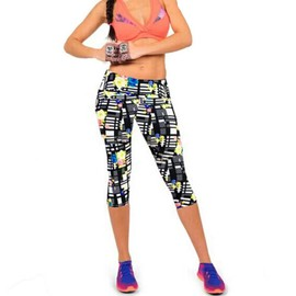 Femme Pantacourt Exercice Leggings Elastique Sport Fitness #13