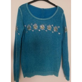 Pull Inconnu Cachemire 40 Turquoise