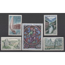France 1964/1965: Lot de 5 timbres Neufs N° 1419, 1436, 1437, 1438 et 1440