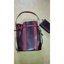 Sac � Bandouli�re Lancel Cuir Rouge