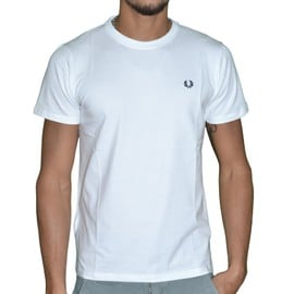 Fred Perry - T-Shirt Manches Courtes - Homme - Crew M6334 - Blanc