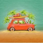 Lot De 2 Serviettes D�co Papier: D�part En Vacances