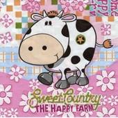 Lot De De 2 Serviettes D�co Papier: The Happy Farm