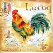 Lot De 2 Serviettes D�co Papier: Le Coq Fran�ais