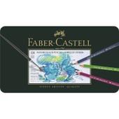 Boite M�tal 120 Crayons Faber Castell Aquarellables