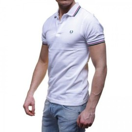 Polo Fred Perry Homme M3600 Blanc Col 663