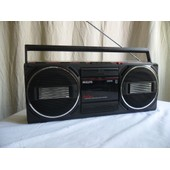 Boombox Philips D8040 Freetimer Stereo Spatial Radio Cassette Vintage