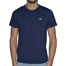 Fred Perry - T-Shirt Manches Courtes - Homme - Crew M6334 - Navy Bleu Fonc�