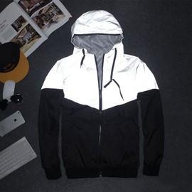Hommes Veste Automne Patchwork R�fl�chissant 3 M Veste Sport Hip Hop Ext�rieure Imperm�able Coupe-Vent Hommes Manteau