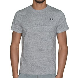 Fred Perry - T-Shirt Manches Courtes - Homme - Crew M6334 - Gris Chin�