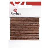 Cordon Plat Li�ge Nature - 5mm (100 Cm) - Rayher