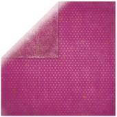 Papier Scrapbooking - Vintage Rose Oeillet - 30,5 X 30,5cm - Bobunny