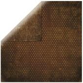 Papier Scrapbooking - Vintage Chocolat - 30,5 X 30,5cm - Bobunny