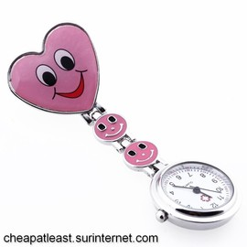 Montre Coeur Smiley Happy Face Clips Pochette Blouse D'infirmi�re, Nurse, Sage-Femme Corps M�dical, M�decin Docteur, Fourniture H�pital Cheapatleast