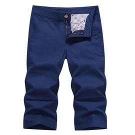 Pantacourt Hommes Mode Coton Slim Court Pantalon Hommes